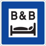 Trafikmärke bed and breakfast BnB